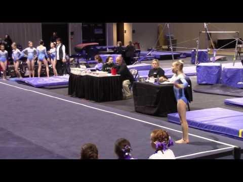 Caroline White  Level 7 Floor at Feb 2017 gymnastics meet