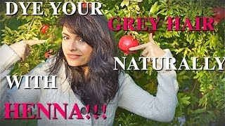 DIY HAIR DYE *Henna: How to Dye Your Grey Hair Naturally * Coprire i capelli bianchi con henna Thumbnail