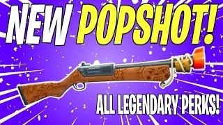 NEW LVL 130 SUNBEAM POPSHOT SHOTGUN! Popshot All Legendary Perks Gameplay | Fortnite Save The World
