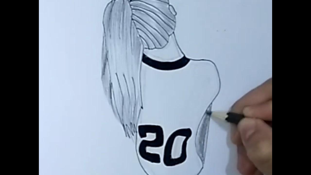 رسم بنات رسم فتاة مستديرة رياضية خطوة خطوة رسم سهل للمبتدئين تعليم