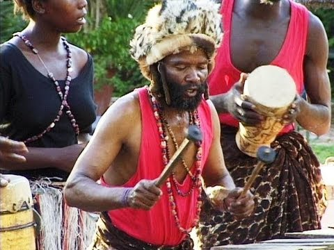 African Music. Traditional Rhythm Band from Botswana Part 1.