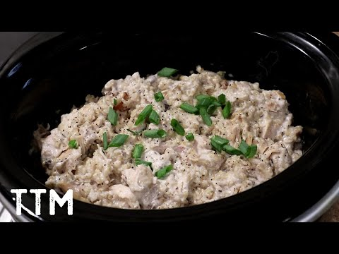 Slow Cooker Chicken And Rice Recipe~Easy Cooking