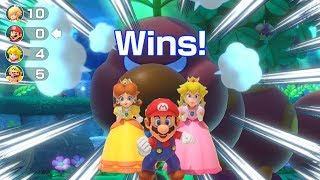 Super Mario Party - All Characters Win Minigames Battle