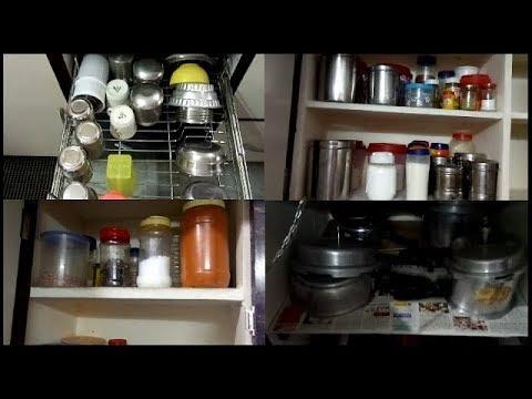 Kitchen Tour Organization Ll Modular Kitchen Ll Kitchen Tour In Telugu 2018 Youtube