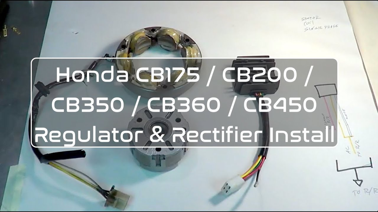 Honda Cb350 Cb360 Cb450 Regulator Rectifier Overview Replacement Motorcycle Wiring Diagram