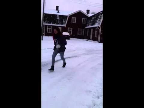 Ukrainsk kvinna på is