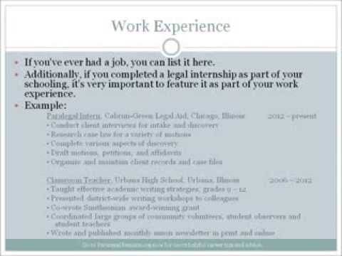 How To Create A Paralegal Resume That Gets You Noticed - Youtube