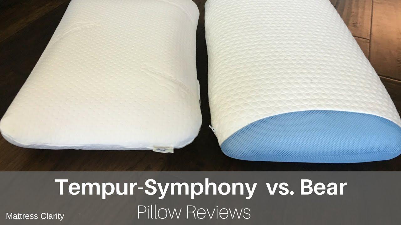 pillow reviews tempur symphony vs bear youtube