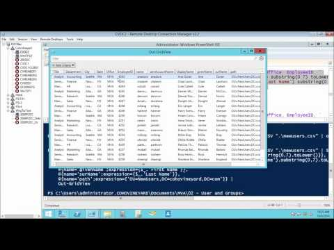 02  - Powershell for Active Directory -Working with Users and Groups