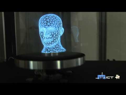 Auténticos hologramas 3-D interactivos, muy de película