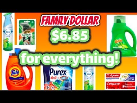 FAMILY DOLLAR COUPONING! SUPER EASY! $6.85 FOR EVERYTHING! ALL DIGITAL COUPONS!