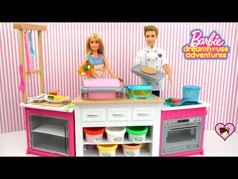 Barbie Doll Dreamhouse Adventures Ultimate Kitchen Toy - DIY miniature Food