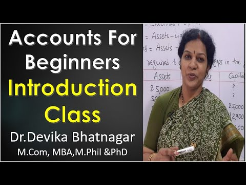 1. Accounts Introduction Class For Beginners