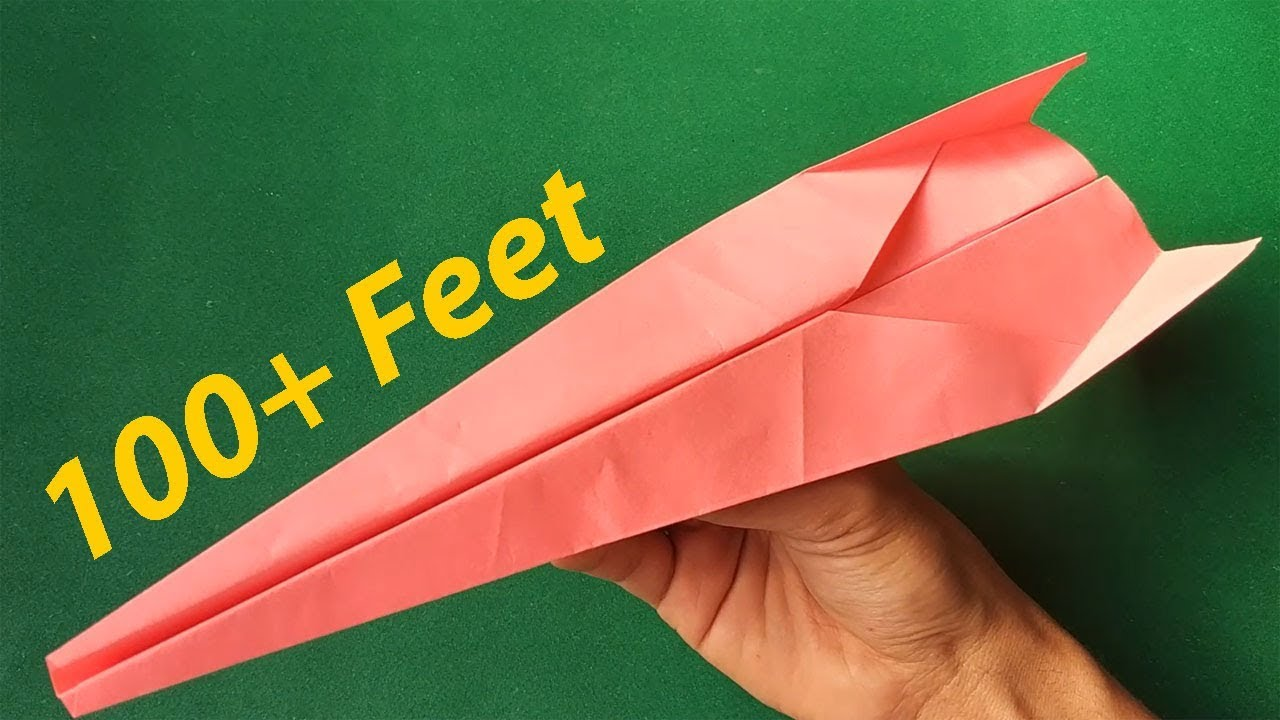 Best Paper Airplane Design In 2 Mins How To Make A