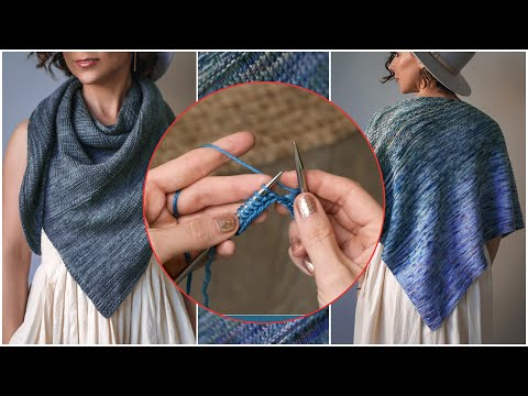 How to Knit this Easy, Beginner, Agave Knit Shawl!  Which Would You Choose? Desert or Ocean?!