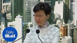 Embattled Hong Kong leader Lam suspends China extradition bill thumbnail