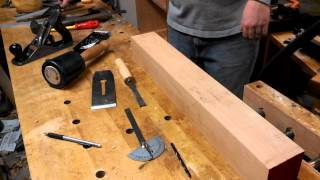 Making A Double Iron Beech Try Plane - Part 4 : Cutting The Mortise And Opening The Mouth