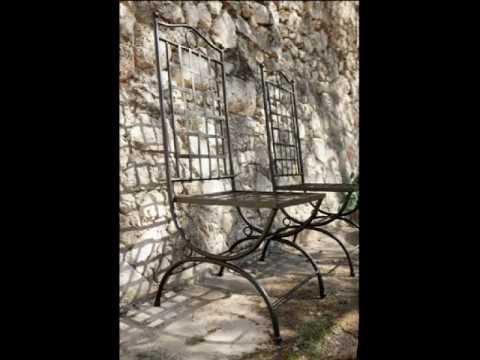 Muebles Terraza Y Jardin En Forja Youtube