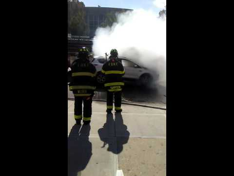 Car catches. Fire in the Bronx (castle hill ave)