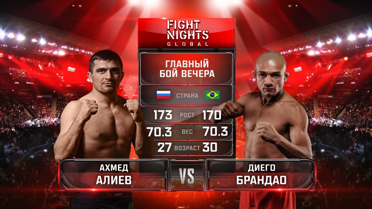 Диего Брандао - Ахмед Алиев. HD / Brandao vs. Aliev