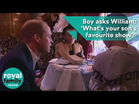 "Boy asks Prince William: ""What's your son's favourite show?"""