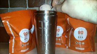 Bodybuilding Warehouse Pure Whey Protein Concentrate 80 Video Review