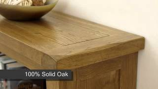 Cotswold Rustic Solid Oak Small Bookcase