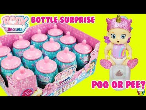 Baby Secrets Bottle Surprise Boy Or Girl? Poo Or Pee? FULL CASE Cupcake Kids Club