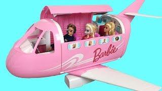 BARBIE AIRPLANE! Frozen Elsa دمية باربي، طائرة Avião da Barbie