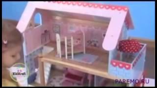 видео Кукольный домик KidKraft Открытый коттедж