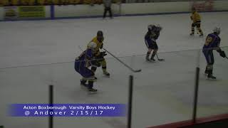 AB Boys Ice Hockey at Andover 2/15/17