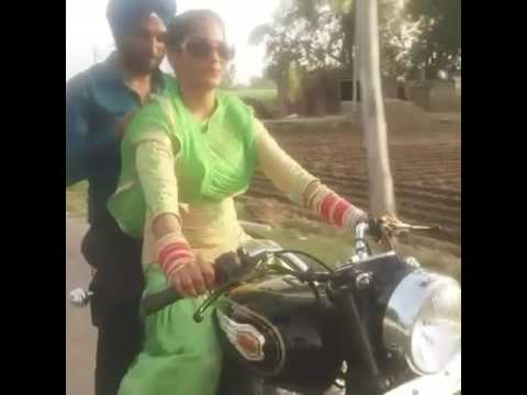 Newly married couple on bullet,sunanda...