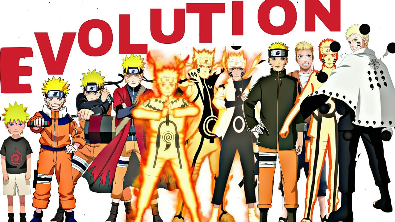 naruto all characters evolution forms naruto shippuden naruto the