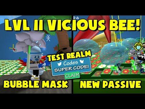 New Bubble Mask Passive Super Code Bee Swarm Simulator Youtube