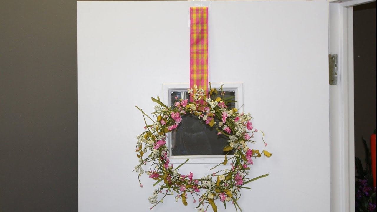 Door U0026 Window Ribbon Wreath Hanger How To   YouTube