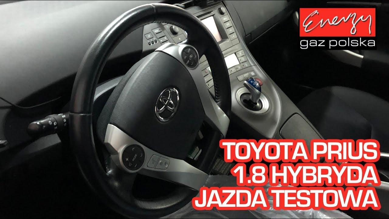 Jazda próbna testowa: Test LPG Toyota Prius 1.8 99KM 2013r HYBRYDA w Energy Gaz na auto gaz BRC