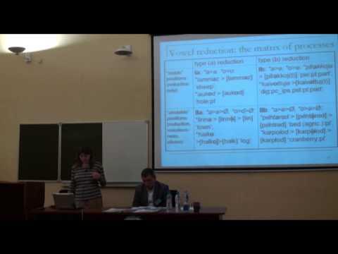 Vowel reduction in Lower Luga Ingrian: scientific description and ''folk'' perception | Лекториум