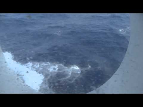 10 Beaufort scale on a cruise ship in Pacific Ocean