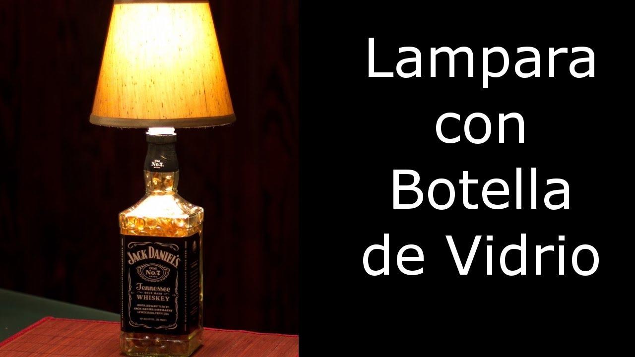 Reciclaje manualidades lampara con botella de vidrio - Manualidades con botellas de cristal ...