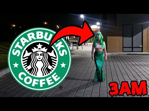 DONT GO TO STARBUCKS OVERNIGHT OR STARBUCKS.EXE WILL APPEAR | HAUNTED STARBUCKS MERMAID GHOST APPEAR