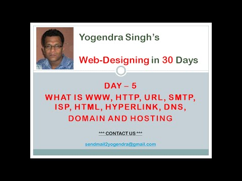 What Is www, http, url, smtp, isp, html, hyperlink? - Learn Web Design In Hindi V-04