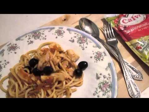 Рецепт Спагетти с креветками и сливочным сыром на