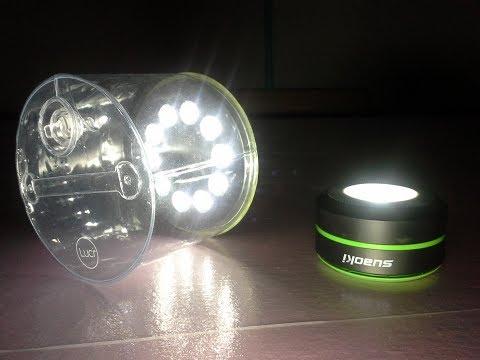 Luci light vs Suaoki solar powered light