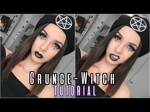 GRUNGE SALEM WITCH MAKEUP   Easy Halloween Makeup 2018