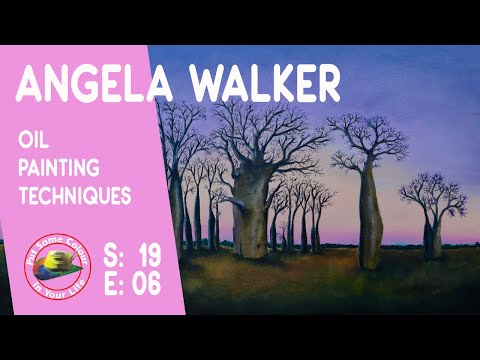 Oil painting techniques and tutorial with Angela Walker | Colour In Your Life