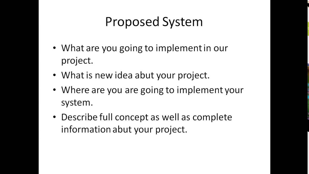 new system proposal presentation A proposal to implement a monitoring and control the need for a new monitoring and control system of design presentation & simulation and getting.