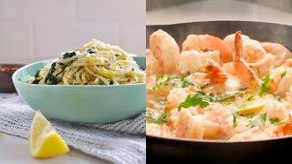 All about Lemon! Sharing Two Lemon Inspired Dinner Recipes - Lemon Kale Spaghetti & Shrimp Scamp