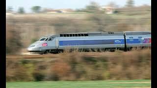 Chirac et Giscard dans le TGV Bordeaux-Angoulême