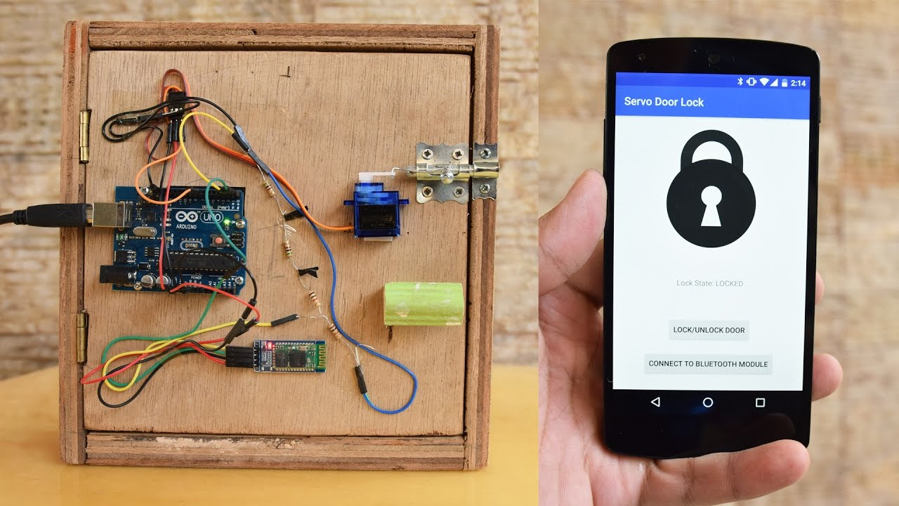 AndroidControlled Arduino Bluetooth Servo Door Lock