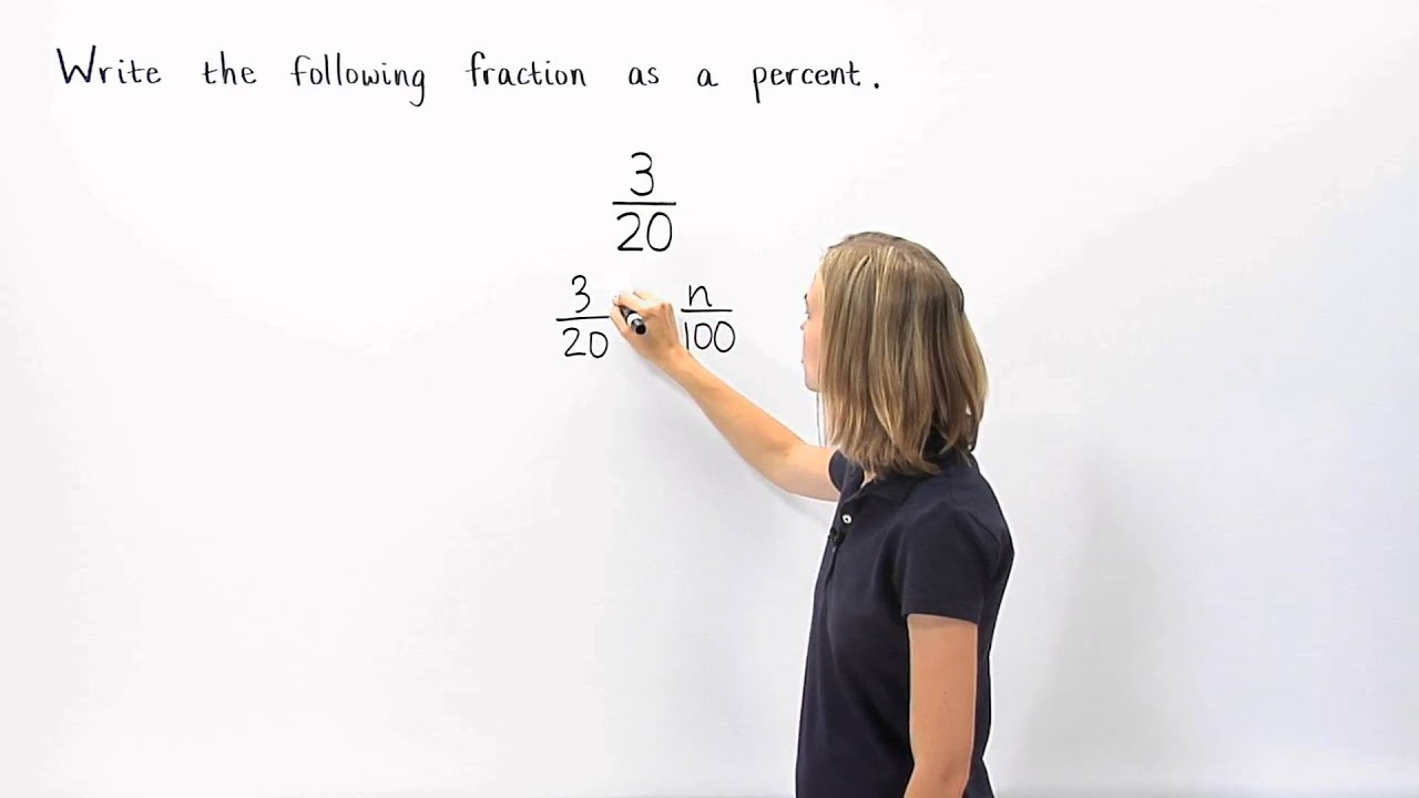 worksheet Fraction To Percent fraction to percent mathhelp com youtube com